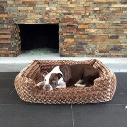 Frontgate - Animals Matter Katie Puff Memory Foam Chenille Lounger - NASA-certified memory foam. Low-profile lounger with surrounding bolster. Removable pillow makes a great travel bed. Removable cover zips off. Machine wash. Give your pooch the ultimate in sumptuous softness with our Animals Matter Katie Puff Memory Foam Chenille Lounger. Constructed from memory foam and professionally upholstered with a double weave, ultra-plush chenille, this bed provides the pressure relieving comfort and therapeutic support that your companion needs.  .  .  .  .  . Made in the USA.