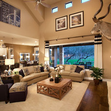 Contemporary Living Room by Mary DeWalt Design Group