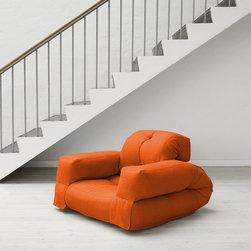 Jaxx Bean Bags - Hippo Small Futon in Orange - Hippo Small Futon in Orange