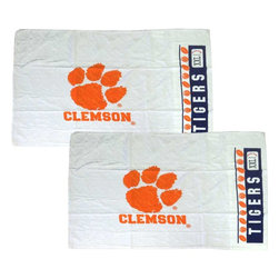 Store51 LLC - NCAA Clemson Tigers Football Set of Two Pillowcases - Features:
