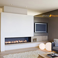 Contemporary Indoor Fireplaces by Ethanol Fireplaces