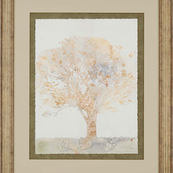 Paragon Decor - Chloe's Tree II Artwork - Deckled fine art paper is float mounted.  Signed and numbered by the artist.