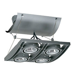 Juno Lighting - Trac-Master XT16404 Avio 4-lt Quad Low Volt MR16 Track Light, Xt16404sl - AVIO combines multi-lamp fixture functionality and aesthetics with a trac-based product that is easy to specify, cost effective to install and simple to reconfigure. AVIO�۪s precision, die-cast frame with curved spanners creates a unique, consistent dropped visual plane of clustered lighting.