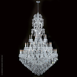 Worldwide Lighting Maria Theresa Chandelier W83067C65 - Worldwide Lighting Maria Theresa Collection 60 light Chrome Finish and Clear Crystal Chandelier Three 3 Tier