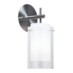 Tech Lighting 700TDECSAS Echo Wall Sconce - Additional finishes and glass options available.