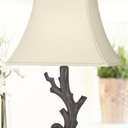 Kenroy - Kenroy 21049WDG Drift Tropical Table Lamp - The elegantly gnarled texture of driftwood comes home in this nature inspired lamp, blending the smooth curves of the wood finish with a crisp Cream shade.
