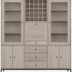 Linear 80h 74w Six-Door/Four-Drawer Storage Cabinet with Steel Base -