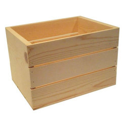 None - Small 14-inch Wooden Crate - Use this small wooden crate to organize your home and keep books and other items stored. This 14-inch crate has a natural finish and will keep your interior decor tidy and stylish.