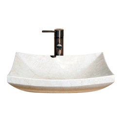 The Allstone Group - V-VZ1816 Creama Marfil Polished Vessel Sink - Natural stone strikes a balance between beauty and function. Each design is hand-hewn from 100% natural stone.  Vessel sinks can be the most inspiring feature in a bathroom, adding style and beauty to any bath space.  Stone not only is pleasing to the eye but also has the feel of something natural and solid.