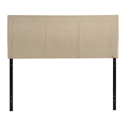 Modway Furniture - Modway Isabella Queen Headboard in Beige - Queen Headboard in Beige belongs to Isabella Collection by Modway Reach back to the height of fashion with the Isabella padded faux leather headboard. Finely upholstered stitching develop an array of three columns supported by a generous border all around. Instead of fading away behind the other elements of your room's decor, Isabella holds tight to its prominence. It is a piece that is pleasing to the eye, while presenting a design that is at once clean and complex. Set Includes: One - Isabella Headboard Headboard (1)