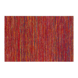 Pasargad - Sari Silk Rug , Red with Gold Light Blue and Green, 8.09x11.09 - Inspired by the traditions of Kashmir, these cheerful area rugs are woven from repurposed saris. The rich jewel tones are achieved through traditional vegetable dies and each rug is hand loomed. They bring color and focus to a contemporary decor and make an interesting conversation piece. Because the rugs are hand woven, there are subtle variations within each color family.