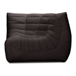 Zuo Modern - Carnival Corner Chair Espresso - Like curling up in someone's arms, the Carnival sectional set is wrapped in a soft leatherette, padded and tufted in all the right ways. Comes in espresso, black and white.