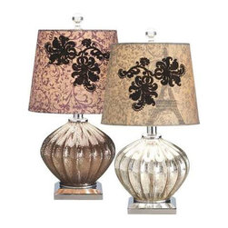 MIDWEST CBK - Mercury Glass Flocked Lamp (2 assorted ) 60W Max - Mercury Glass Flocked Lamp (2 assorted ). 60W Max. Shop home furnishings, decor, and accessories from Posh Urban Furnishings. Beautiful, stylish furniture and decor that will brighten your home instantly. Shop modern, traditional, vintage, and world designs.