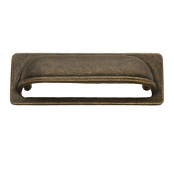 Hickory Hardware - Hickory Hardware 3 In. Oxford Antique Windover Antique Cup Cabinet Pull - Refreshing in its simplicity, Rustic style highlights natural beauty and a rugged, resilient spirit.  Thanks to the unpretentious roots, organic textures, shapes and natural warmth, it�s become as popular in the heart of the city as it is out in the woods.