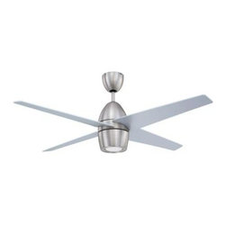 Designers Choice Collection - Indoor Ceiling Fans: Designers Choice Collection Contempra 52 in. Satin Nickel C - Shop for Lighting & Fans at The Home Depot. The Designers Choice Collection Contempra 52 in. Ceiling Fan enriches your surroundings with clean modern lines. The 75 Watt halogen light kit adds that finishing touch. The new and unique pop-out remote control, which may be hand-held or wall mounted, offers light dimming, 3 speeds and reverse function. The Contempra's overlapping blades are a distinctive design feature.