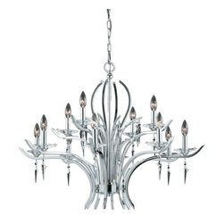 Triarch International - Triarch International 29494 Allure Chandelier - Triarch International 29494 Allure Chandelier with 12 LightsReward yourself and decorate your home with this attractive chandelier. Chandeliers are a great way to add style and lighting to your room. Triarch International 29494 Features: