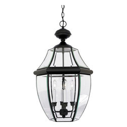 Quoizel - Quoizel NY1180K Newbury 4 Light Outdoor Pendants/Chandeliers in Mystic Black - This 4 light Outdoor Hanging from the Newbury collection by Quoizel will enhance your home with a perfect mix of form and function. The features include a Mystic Black finish applied by experts. This item qualifies for free shipping!