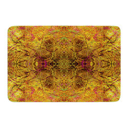 "KESS InHouse - Nikposium ""Goldenrod"" Gold Yellow Memory Foam Bath Mat (17"" x 24"") - These super absorbent bath mats will add comfort and style to your bathroom. These memory foam mats will feel like you are in a spa every time you step out of the shower. Available in two sizes, 17"" x 24"" and 24"" x 36"", with a .5"" thickness and non skid backing, these will fit every style of bathroom. Add comfort like never before in front of your vanity, sink, bathtub, shower or even laundry room. Machine wash cold, gentle cycle, tumble dry low or lay flat to dry. Printed on single side."