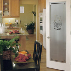 HomeStory Doors - A beautiful glass pantry door brightens up your whole kitchen