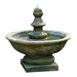 Campania - Bordine Finial Outdoor Water Fountain - Campania makes some of the most stunning fountains. The Bordine Finial Outdoor Fountain happens to be a great example. This fountain is perfect for placement in the entry way to your home, in your garden, or even patio. Made of cast stone, this fountain is highly durable and is sure to last for years to come.