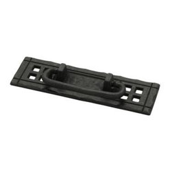 Liberty Hardware - Liberty Hardware PN8005-SAM-A Mission Style Cab HW-Liberty 1.5 Inch Drop Handle - Change out your old cabinet pulls and give any room a brand new feel with the Liberty 4-1/4 in. Flat Black Horizontal Bail Pull with Backplate. This pull can be used to accent your existing cabinetry or furniture with a flat black finish. A simple change can make a huge impact on the look and feel of any room. Center to Center - 4.88 Inch, Width - 1.5 Inch, Height - 4.89 Inch, Projection - 1 Inch, Finish - Mixed Finishes, Weight - 0.16 Lbs.