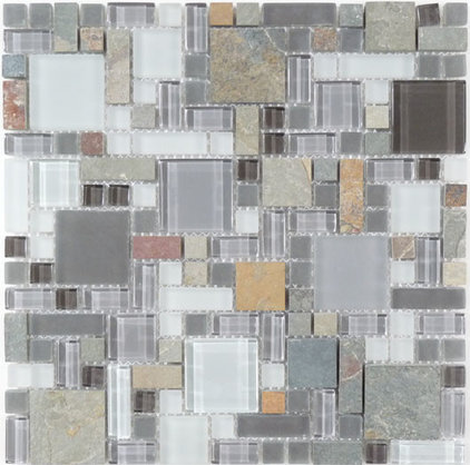 Modern Wall And Floor Tile by Glass Tile Oasis