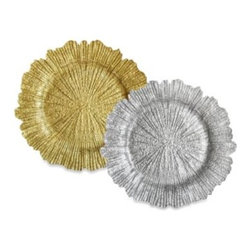 Jay Import Co. Inc. - ChargeIt! By Jay Reef 13 1/2-Inch Glass Charger Plates (Sets of 4) - Spruce up your dining decor with ChargeIt! By Jay Reef Charger Plates. These solid, decorative charger plates add charm and beauty to any dining room table. Each sets includes four plates.