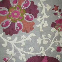 Nurata Mulberry Fabric - This beautiful suzani fabric is heavy enough for upholstery.