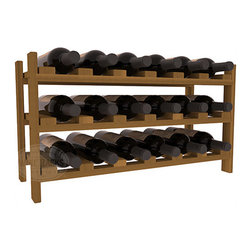 18 Bottle Stackable Wine Rack in Redwood - Expansion to the next level! Stack these 18 bottle kits as high as the ceiling or place a single one on a counter top. Designed with emphasis on function and flexibility, these DIY wine racks are perfect for young collections and expert connoisseurs.