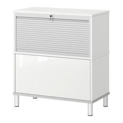 IKEA of Sweden - EFFEKTIV Storage combination on legs - Storage combination on legs, white, high gloss white