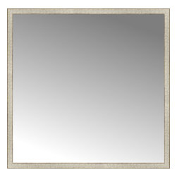 """Posters 2 Prints, LLC - 57"""" x 56"""" Libretto Antique Silver Custom Framed Mirror - 57"""" x 56"""" Custom Framed Mirror made by Posters 2 Prints. Standard glass with unrivaled selection of crafted mirror frames.  Protected with category II safety backing to keep glass fragments together should the mirror be accidentally broken.  Safe arrival guaranteed.  Made in the United States of America"""