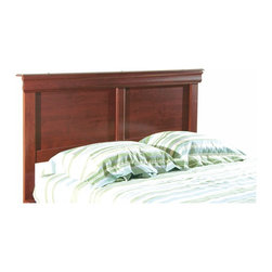 South Shore - Collection Headboard, 54/60in. - Headboard works on its own or in conjunction with platform bed 3168-203.  Made from engineered-wood products and given a warm cherry finish.  Headboard is divided into two squares and has Louis-Philippe style moldings across the top edge. * Manufactured from eco-friendly, EPP-compliant laminated particle boardcarrying the Forest Stewardship Council (FSC) certification. Rich, warm Classic Cherry finish. Works with bed 3168-203 to form a complete bed. Can be sold alone. Square shape with decorative Louis-Philippe style moldings. Matches mirror 3168-159. Manufactured from engineered-wood products. Made of engineered wood from 100% recycled wood fiber. 5-year warranty. Assembly required67 in. W x 3 in. D x 44 in. H
