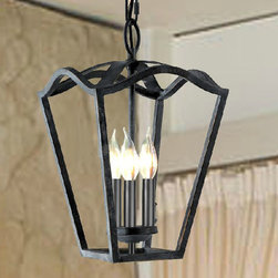 Antique Country Iorn Art Chandelier -