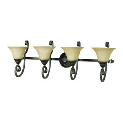 YOSEMITE HOME DECOR - 4 Lights Vanity in Light Tuscan Sand - Hardwire : Yes