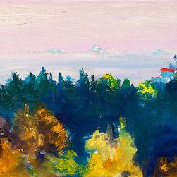 "Ann Rea - Bring home Marin, California with ""Distant City"" by Ann Rea, oil painting - ""San Francisco sits within a distant fog."" -Ann Rea"