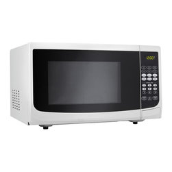 """Danby - 1.1 Cu.Ft. Microwave-White - Spacious 1.1 cu. ft. capacity microwave, 1000 watts of cooking power, 10 power levels, Simple one touch cooking for 6 popular uses (popcorn, potato, pizza, beverage, dinner plate, frozen vegetable), Easy to read LED timer/clock, Automatic oven light & turntable, Unit dimensions 20 3/16"""" W x 15 9/16"""" D x 12"""" H"""