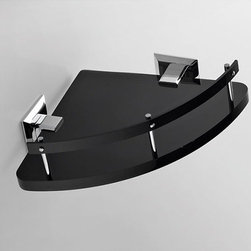 Nameeks - Nameeks | Grip Corner Bathroom Shelf - Made in Italy. A part of Toscanaluce by Nameek's.The Grip Corner Bathroom Shelf features a highly efficient design that can hold all your daily bathroom essentials. This triangular shaped corner shelf comes with a railing and chrome wall mounts. Crafted with high quality plexiglass, it offers sturdy performance. Compact and stylish, the Grip Corner Bathroom Shelf is reliable and is offered in multiple colors to suit any bath décor. Product Features: