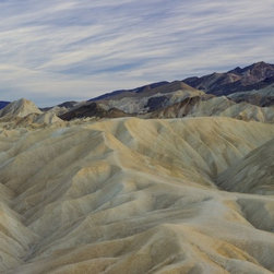 """Zabriske Point #2"" Artwork - Photo taken during sunset at Zabriske Point, Death Valley National Park. Wall-mountable print with wooden backing/structure and holes to hang the piece."
