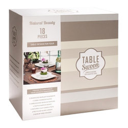 Table Swoon - Natural Beauty - Table Setting - Set Includes: