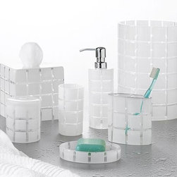 Home Decorators Collection - Hammam Tissue Holder - Get organized in style with the Hammam Tissue Holder. Featuring a modern geometric etched glass design, the holder is an elegant way to get your bathroom in order. Buy yours today. Quality crafted. Material: glass.