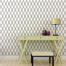 "Stencil Ease - Nador Wall Painting Stencil - Actual Size 16.8 wide x 17.72"" high on a 19.5"" x 19.5"" plastic stencil sheet - production sizes also available. The Nador stencil is a Moroccan woodworking lattice pattern. You can add a stylish element to any room, design project or diy project. Try stenciling on Furniture, lamp shades, fabric, walls, floors."