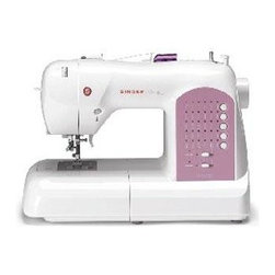 Singer Sewing Co - Singer 8763 Curvy Sewing Machine - The singer 8763 curvy features the innovative swift smart threading system that has one touch threading! The Drop & Sew - bobbin system 30 stitch patterns including two fully automatic one-step buttonholes and optimum stitch settings are just a few of this machine's features. Included accessories: general/all purpose foot zipper foot satin stitch foot blind hem foot buttonhole foot needles bobbins (4) auxiliary spool pin felt discs (2) spool caps (3) seam ripper/brush screwdriver darning/feed cover plate foot pedal dust cover power cord instruction manual.