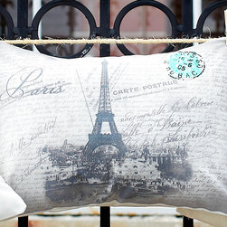 Cottage Home - Eiffel Tower Boudoir 20-inch Decorative Throw Pillow - Complete the finishing touch to your home decor with this charming decorative pillow,featuring an elegant Eiffel Tower Boudoir design. Whether you want a splash of color or a subtle accent,this decorative pillow is the perfect choice.
