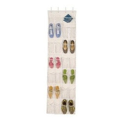 Richards Homewares - Over The Door Clear Shoe Organizer/Storage Rack - * Protects from dust, dirt and moisture