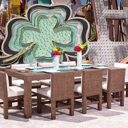 Somers Furniture - Dare To Be Square...Resort Collection - Dine in Comfort on Your Outdoor Dining Table and Chairs!