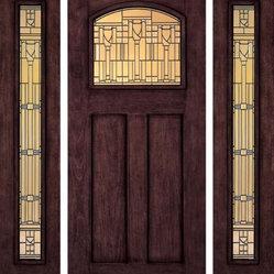 Jeld Wen A387 Door Sidelights Mahogany Woodgrain Sequoia