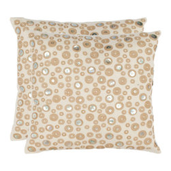 Safavieh Home Furniture - Bianca 18-Inch Creme Decorative Pillows Set of 2 - -Adorn your bed sofa or favorite reading chair with a refreshing geometric design from Safavieh. This eye-catching pillow will marry perfectly with your existing d�cor adding lasting style for years to come.  - Please note this item has a 30-day manufacturer's limited warranty that covers product defects. Inspect your purchase upon delivery and notify us immediately with any concerns. Safavieh Home Furniture - PIL877A-1818-SET2
