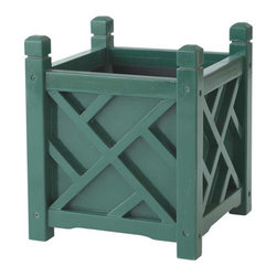 Chippendale Garden Flower Planter, Hunter Green - These colorful wooden planters are classic and traditional. They're perfect for holding a pot of beautiful flowers or a small tree. Use them indoors or out.