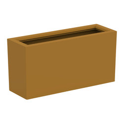 Decorpro - Large Aberdeen Planter, Spanish Gold - The Aberdeen planter is perfect for indoor and outdoor use. Use this planter indoors to create an amazing garden for fresh herbs and vegetables. The slender depth and elongated width allows for a versatile range of placements and uses.