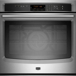 """Maytag - MEW9530AS 30"""" Single Electric Wall Oven With 5.0 Cu. Ft.  Self-Cleaning  True Co - This electric wall oven has a Industry-leading5 cu Ft Total Capacity and Power Preheat your oven in 8 minutes Making this an ideal oven for any kitchen"""